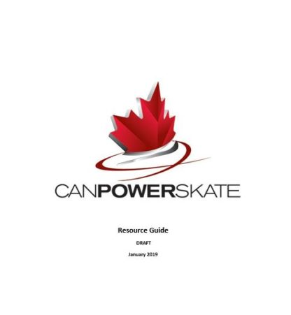A picture of the CanPowerSkate Resource Guide.