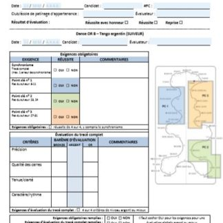 A picture of the assessment sheet.