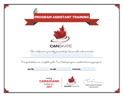 A picture of the Program Assistant Certificate.