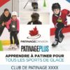 An image of a customizable poster clubs/schools can post on their bulletin boards to promote CanSkate.